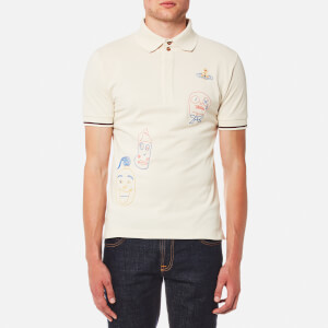 Vivienne Westwood MAN Men's Organic Pique Puppet Polo Shirt - Off White