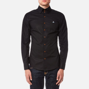 Vivienne Westwood MAN Men's Stretch Poplin Krall Three Button Shirt - Black