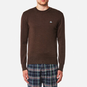 Vivienne Westwood MAN Men's Classic Crew Neck Knitted Jumper - Brown