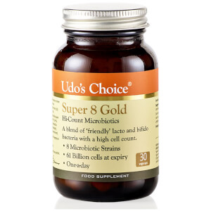 Udo's Choice Super 8 GOLD Microbiotics - 30 Vegecaps