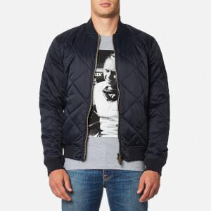 Barbour X Steve McQueen Men's Quilt Bomber Jacket - Navy