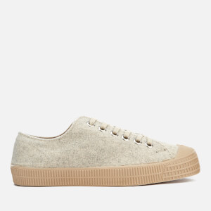 Novesta Men's Star Master Felt Trainers - Light Grey/Beige
