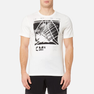 Reebok Men's Speedwick Blend Short Sleeve Graphic T-Shirt - Chalk