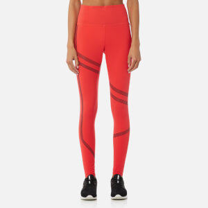 Reebok Women's Linear High Rise Tights - Glow Red