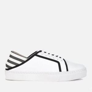 Senso Women's Avery II Leather Cupsole Trainers - Ebony/White Stripe
