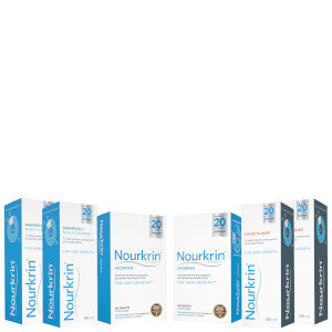Nourkrin Woman Hair Growth Supplements 6 Month Bundle with Shampoo and Conditioner x2 (Worth £311.78)
