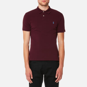 Polo Ralph Lauren Men's Slim Fit Mesh Polo Shirt - Fall Burgundy