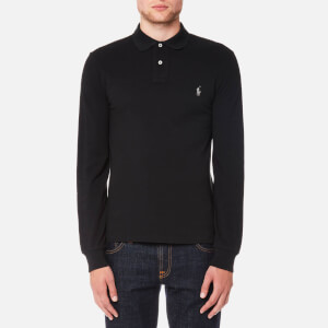 Polo Ralph Lauren Men's Slim Fit Long Sleeve Polo Shirt - Polo Black