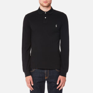 Polo Ralph Lauren Men's Slim Fit Long Sleeve Polo Shirt - Polo Black