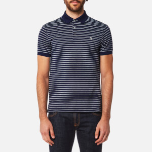Polo Ralph Lauren Men's Stretch Mesh Stripe Polo Shirt - French Navy/Andover