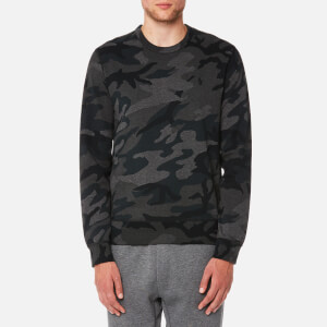 Polo Ralph Lauren Men's Double Knitted Crew Neck Sweatshirt - Grey Multi Camo