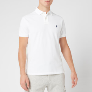 Polo Ralph Lauren Men's Custom Slim Fit Mesh Polo Shirt - White