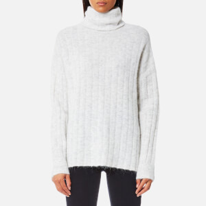 Samsoe & Samsoe Women's Nor T-Neck Jumper - White Melange