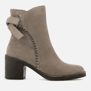 UGG Women's Fraise Whipstitch Suede Heeled Ankle Boots - Mouse