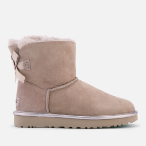 UGG Women's Mini Bailey Bow II Metallic Sheepskin Boots - Dusk