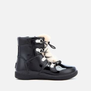 UGG Toddlers' Ager Patent Leather Hiker Boots - Black