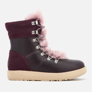 UGG Women's Viki Waterproof Leather Lace Up Boots - Port