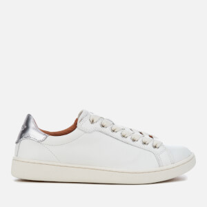 UGG Women's Milo Grain Leather Cupsole Trainers - White