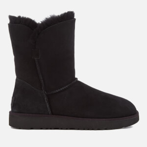 UGG Women's Classic Cuff Short Sheepskin Boots - Black