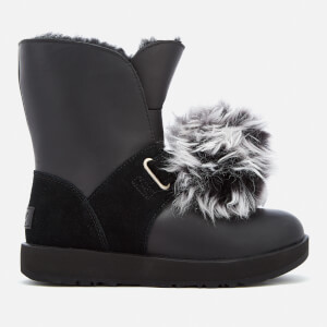 UGG Women's Isley Waterproof Pom Sheepskin Boots - Black