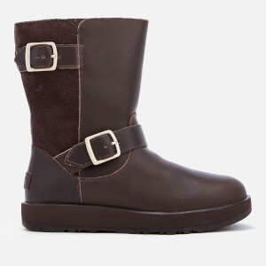 UGG Women's Breida Waterproof Leather Biker Boots - Stout