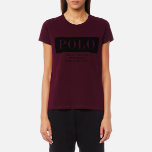 Polo Ralph Lauren Women's Fl Polo T-Shirt - Burgundy