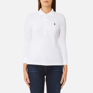 Polo Ralph Lauren Women's 3/4 Length Julie Long Sleeve Top - White