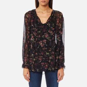 Polo Ralph Lauren Women's Long Sleeve Blouse - Black