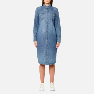 Polo Ralph Lauren Women's Western SD Long Sleeve Casual Dress - Light Indigo