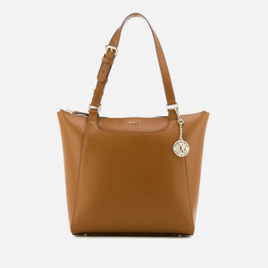 DKNY Women's Sutton Saddle Medium Tote Bag - Camel