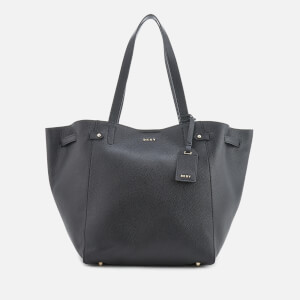 DKNY Women's Chelsea Pebbled Leather Large Tote Bag - Black