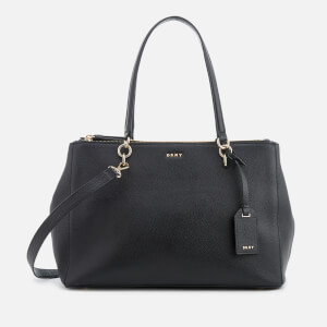 DKNY Women's Chelsea Pebbled Leather Large Shopper Bag - Black