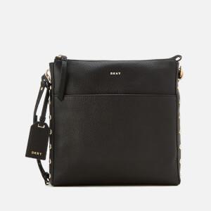 DKNY Women's Chelsea Pebbled Leather Top Zip Cross Body Bag - Black