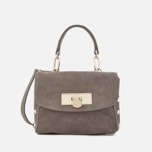 DKNY Women's Suede Mini Flap Shoulder Bag - Stone