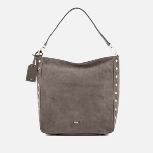 DKNY Women's Suede Hobo Bag - Stone