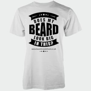 Does My Beard Look Big In This Men's White T-Shirt
