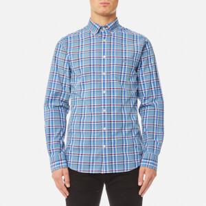 GANT Men's Broadcloth Check Shirt - Indigo