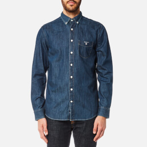 GANT Men's Indigo Button Down Shirt - Indigo