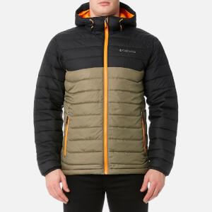 Columbia Men's Powder Lite Hooded Jacket - Sage/Black/Solarize