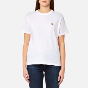 Maison Kitsuné Women's Fox Head Patch T-Shirt - White