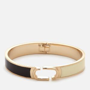 Marc Jacobs Women's Icon Enamel Colour Block Hinge Bracelet - Black Multi