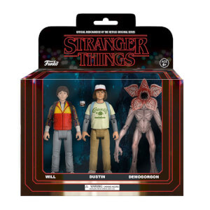 Funko Stranger Things 3 Pack Will, Dustin and Demogorgon Action Figures