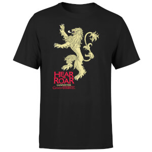 T-Shirt Homme Game of Thrones Lannister Hear Me Roar - Noir