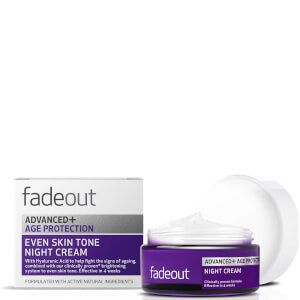 Crema de noche ADVANCED + Antienvejecimiento Even Skin Tone de Fade Out