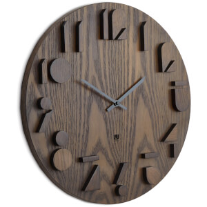 Umbra Shadow Wall Clock - Aged Walnut