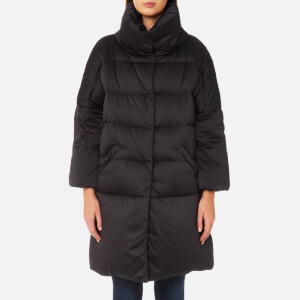 Herno Women's Woven Down Coat - Black