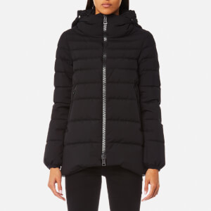 Herno Women's Woven Half Down Coat - Black