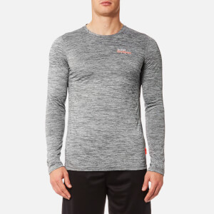 Superdry Sport Men's Core Train Spacedye Long Sleeve T-Shirt - Light Grey Grit