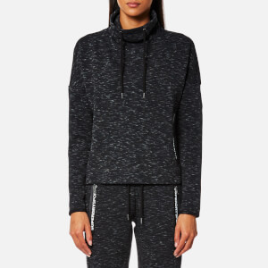 Superdry Sport Women's Gym Tech Luxe Funnel Neck Sweatshirt - Black Granite Marl