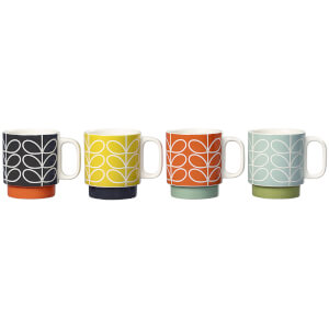 Orla Kiely Linear Stem Stacking Mugs - Multi (Set of 4)